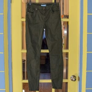 "7 For All Mankind Pants - 7 FAM ""b(air)"" green denim skinny jeans!"
